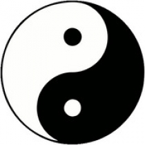 Yin and Yang twee tegengestelde principes